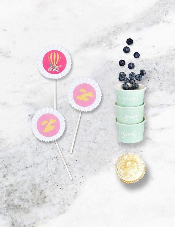 Hot Air Balloon Party In A Box - THE LUXE, Dreaming Of Clouds Party Collection, modern party supplies online