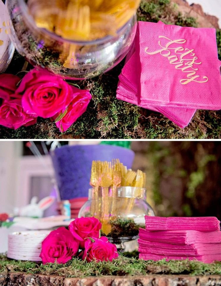Hot Pink Party Decorations, Fuchsia Goddess Party Collection, modern party supplies online