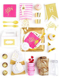 Hot Pink Party In A Box - FOR KIDS, Fuchsia Goddess Party Collection, modern party supplies online