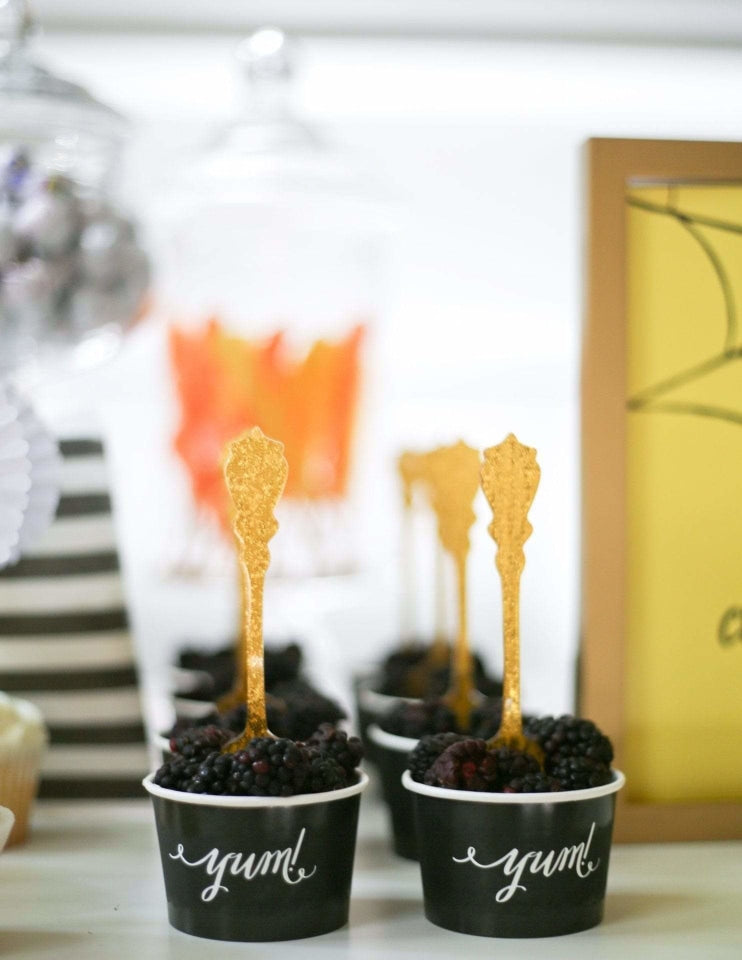 Ice Cream Cups / Candy Cups (Black), Solid Colors Party Collection, modern party supplies online