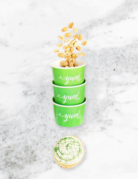 Ice Cream Cups / Candy Cups (Green), Solid Colors Party Collection, modern party supplies online