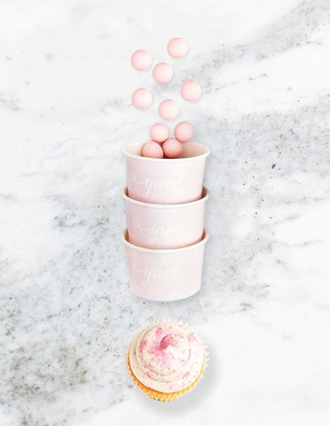Ice Cream Cups / Candy Cups (Pastel Pink), Solid Colors Party Collection, modern party supplies online