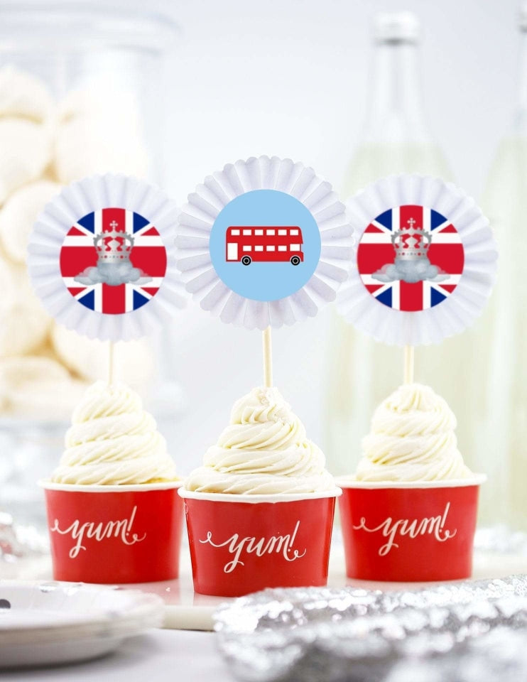 Royal Prince Cupcake Toppers, London Party Collection, modern party supplies online