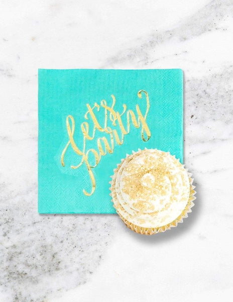 Mint Cocktail Napkins, Minty Fresh Party Collection, modern party supplies online