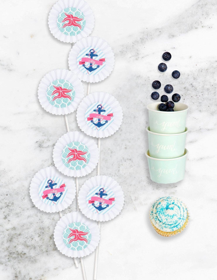 Nautical Baby Shower In A Box - THE FANCY, Deep Sea Party Collection, modern party supplies online