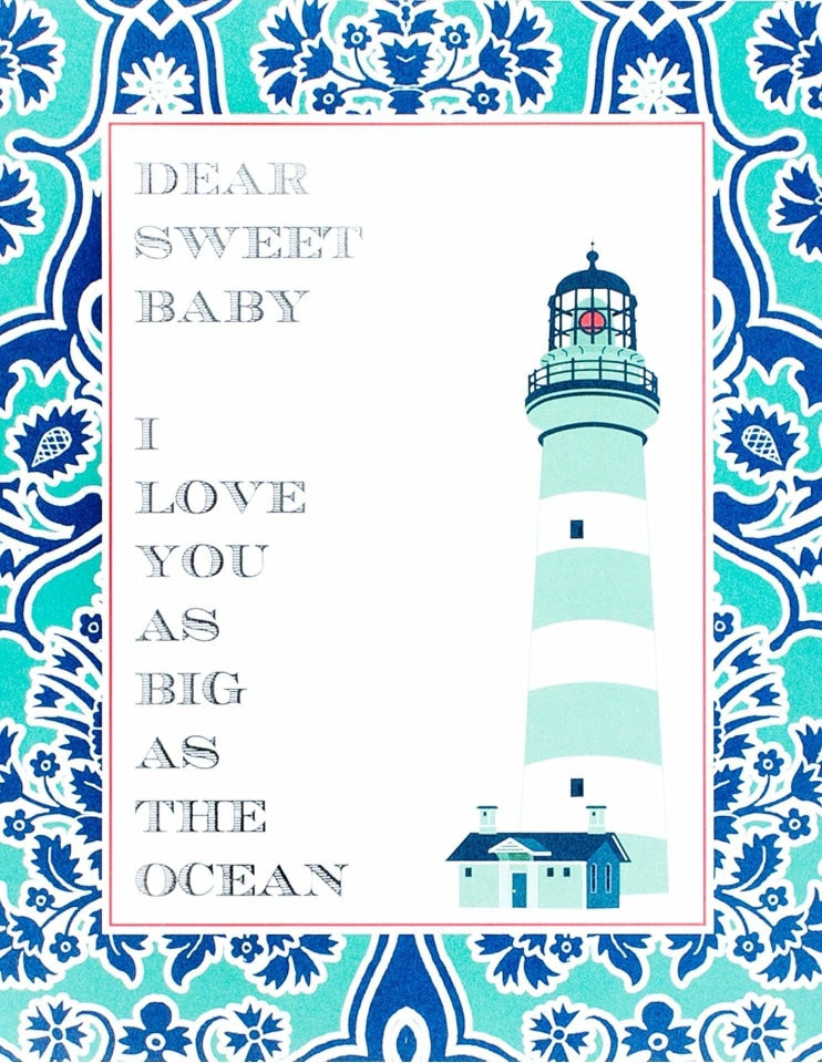 Nautical Baby Shower Sign, Deep Sea Party Collection, modern party supplies online