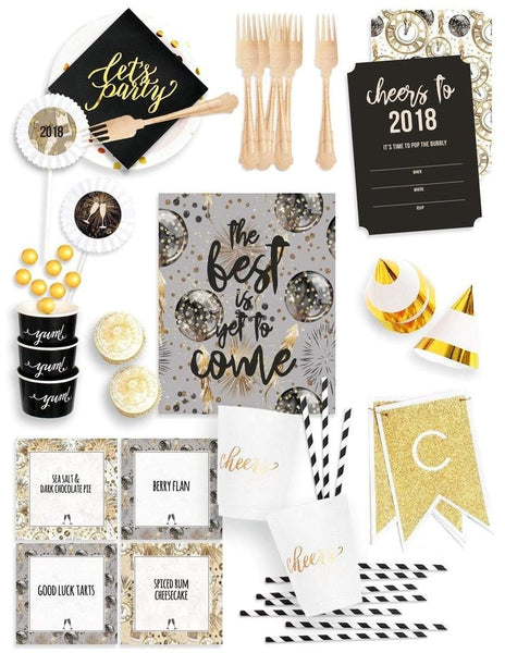 New Year's Eve Party In A Box, Holiday Party Collection, modern party supplies online