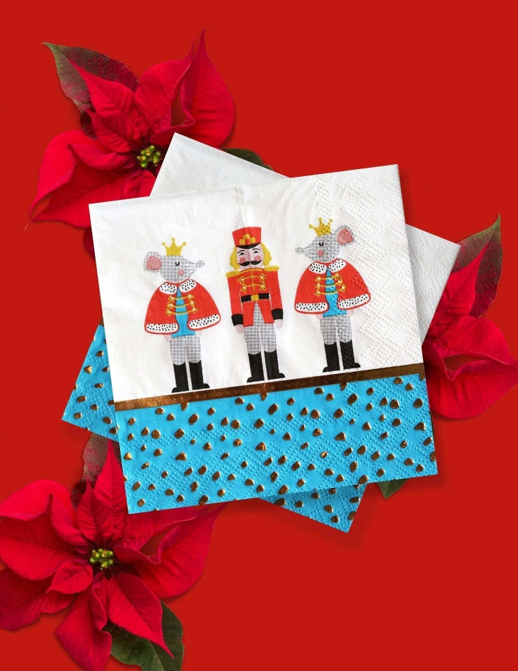 Nutcracker Christmas, Napkins, Holiday Party Supplies and Decorations