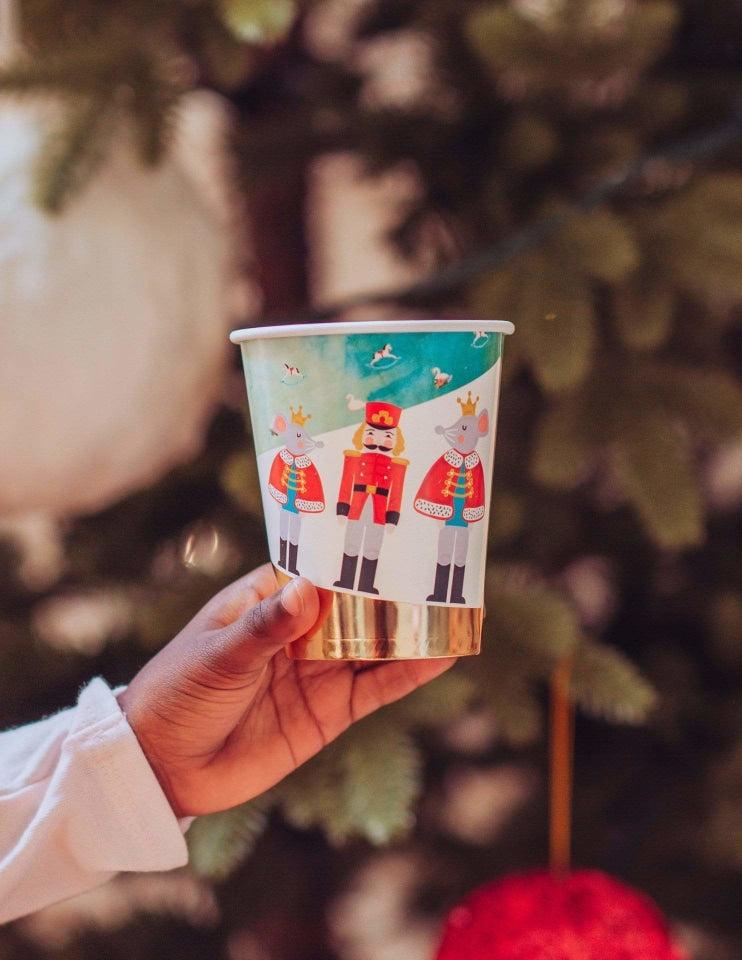 Nutcracker Christmas Paper Cups, Holiday Party Supplies and Decorations
