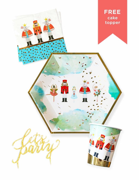 Nutcracker Christmas Party Pack, Holiday Party Supplies and Decorations