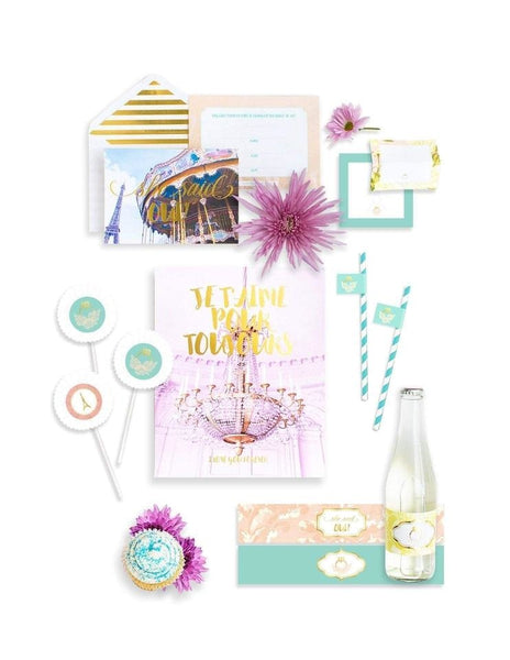 Paris Bridal Shower In A Box- THE MINI, Oui Party Collection, modern party supplies online