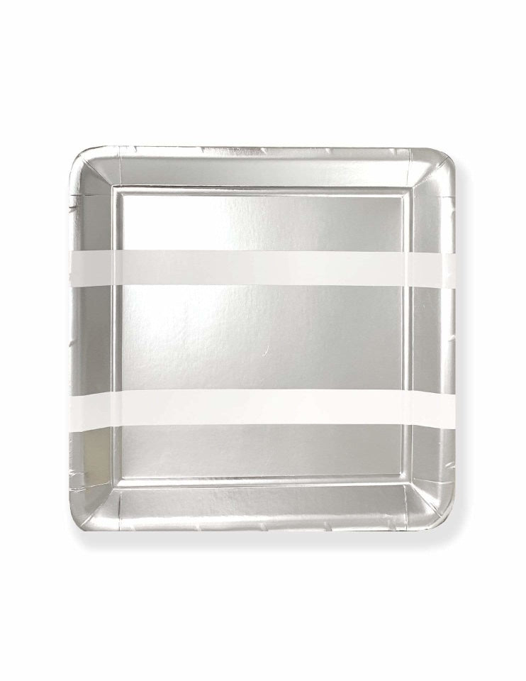 Party Plates (Silver), Metallics Party Collection, modern party supplies online