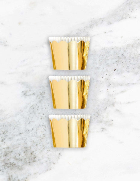 Petite Paper Baking Cups (Gold)