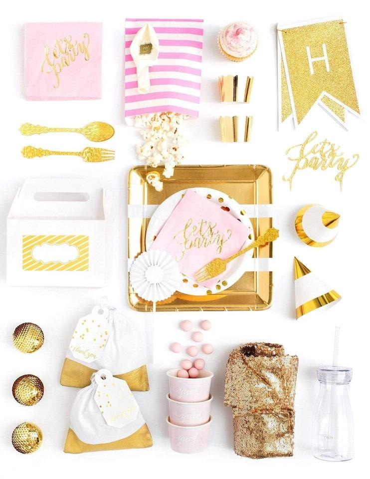 Pink Gold Party In A Box - FOR KIDS, Crushing On Pink Party Collection, modern party supplies online