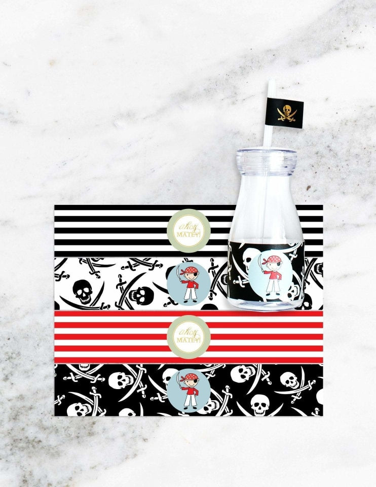 Pirate Milk Bottle Set