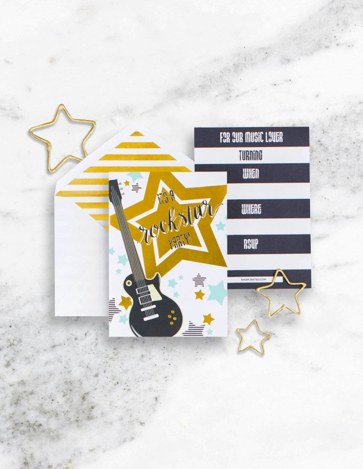 Rockstar Party In A Box - THE FANCY, Backstage Pass Party Collection, modern party supplies online