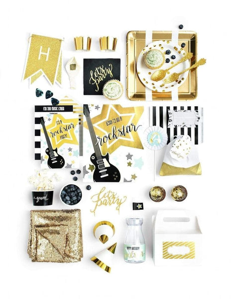 Rockstar Party In A Box - THE LUXE, Backstage Pass Party Collection, modern party supplies online