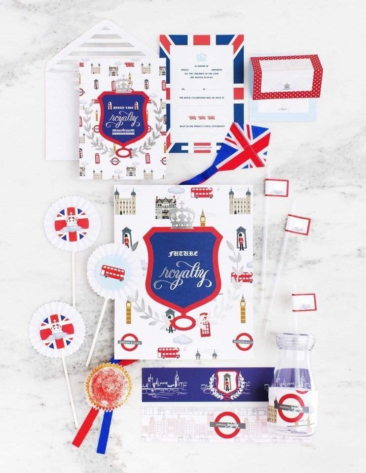 Royal Prince Birthday Box - THE LUXE, London Party Collection, modern party supplies online