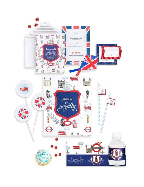 Royal Prince Birthday Box - THE MINI, London Party Collection, modern party supplies online