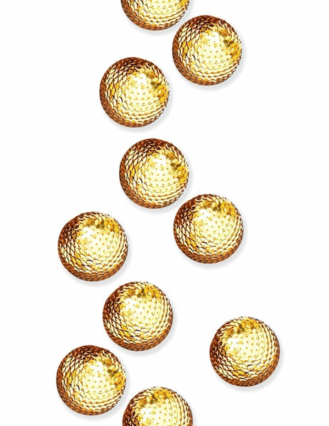 Sequin Decorative Spheres (Gold)