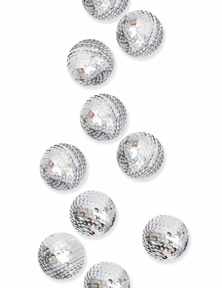 Sequin Decorative Spheres (Gold), Metallics Party Collection, modern party supplies online
