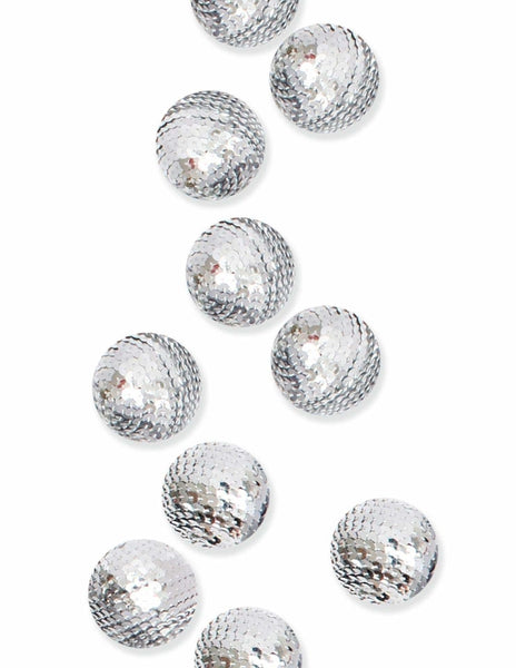 Sequin Decorative Spheres (Silver)