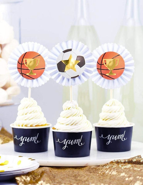 Sports Cupcake Toppers, All Star Player Party Collection, modern party supplies online