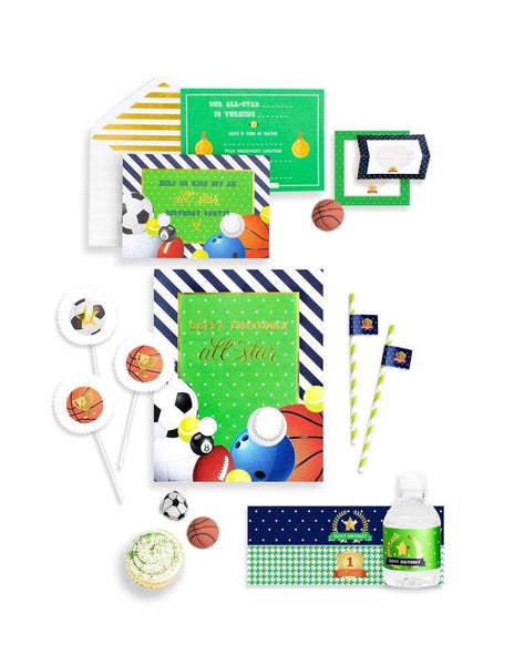 Sports Party In A Box- THE MINI, All Star Player Party Collection, modern party supplies online