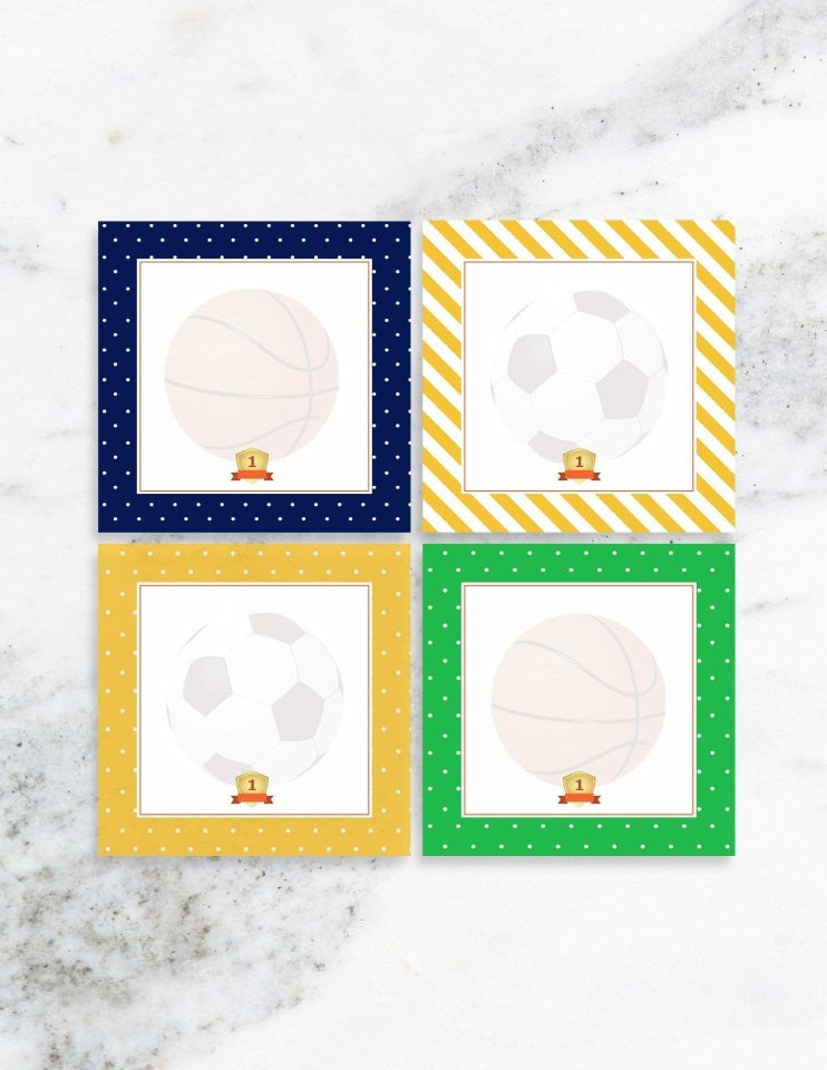 Sports Party Place Cards, All Star Player Party Collection, modern party supplies online