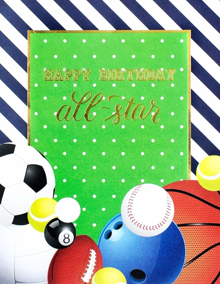 Sports Party Sign, All Star Player Party Collection, modern party supplies online
