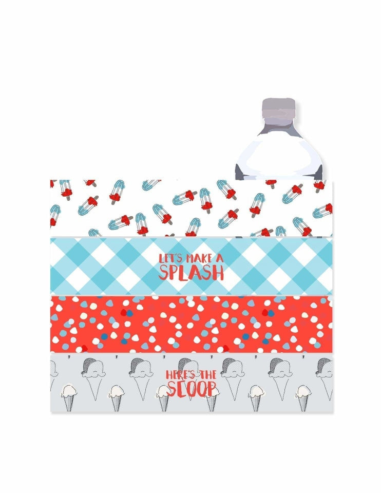 Summer Party Bottle Wrappers, Holiday Party Collection, modern party supplies online
