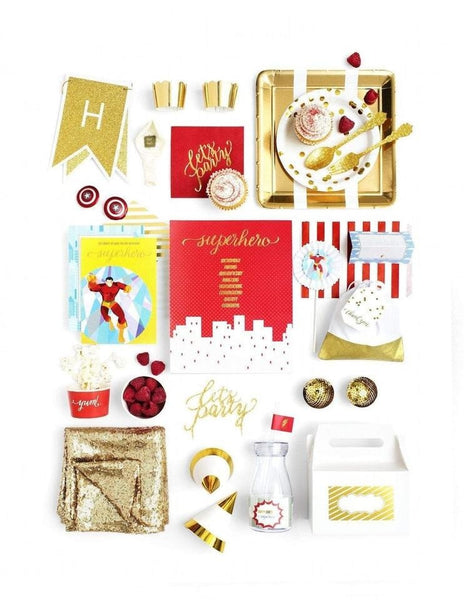 Superhero Party In A Box - THE LUXE, Save The Day Party Collection, modern party supplies online