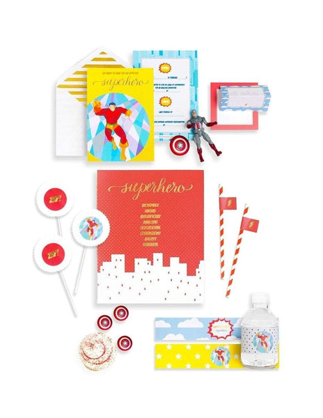 Superhero Party In A Box - THE MINI, Save The Day Party Collection, modern party supplies online