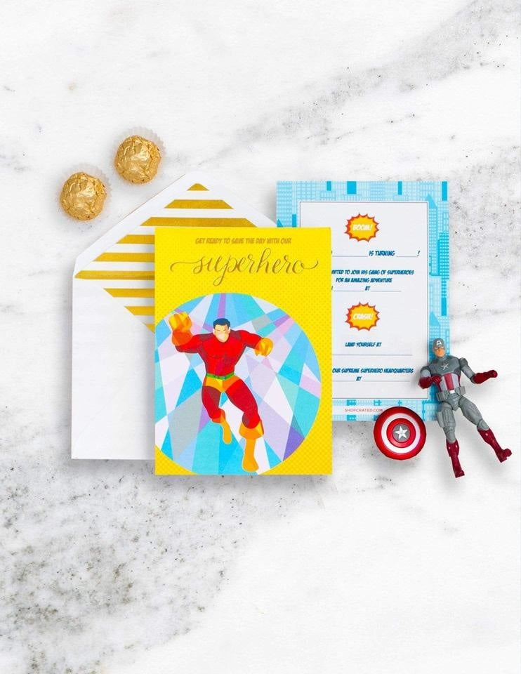 Superhero Party Invitations, Save The Day Party Collection, modern party supplies online