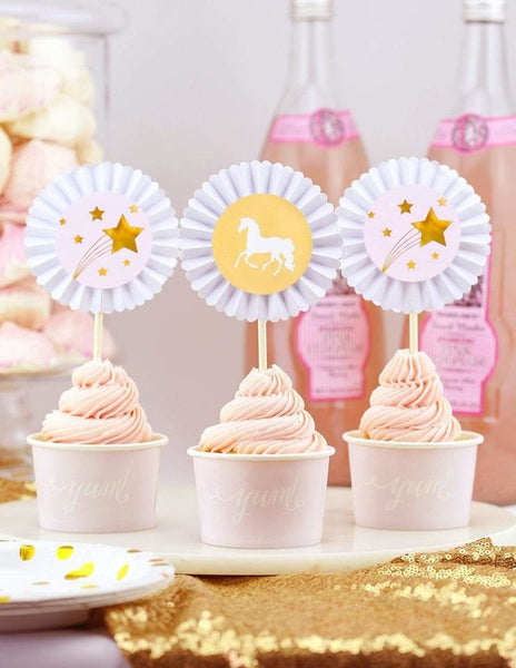 Unicorn Cupcake Toppers, Sparkle & Shine Party Collection, modern party supplies online