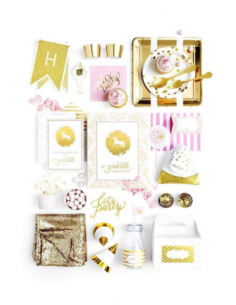 Unicorn Party In A Box - THE LUXE, Sparkle & Shine Party Collection, modern party supplies online