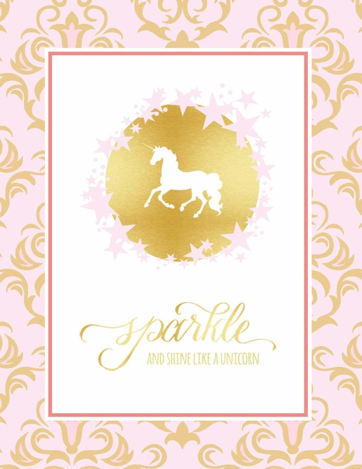 Unicorn Party Sign, Sparkle & Shine Party Collection, modern party supplies online