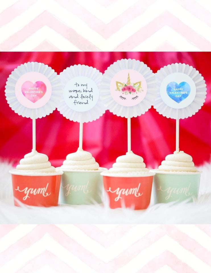 Valentine's Day Cupcake Set, Limited Party Collection, modern party supplies online