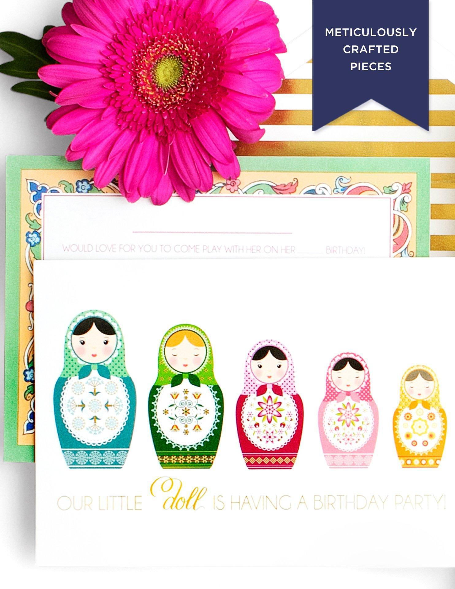 nesting doll party invitations