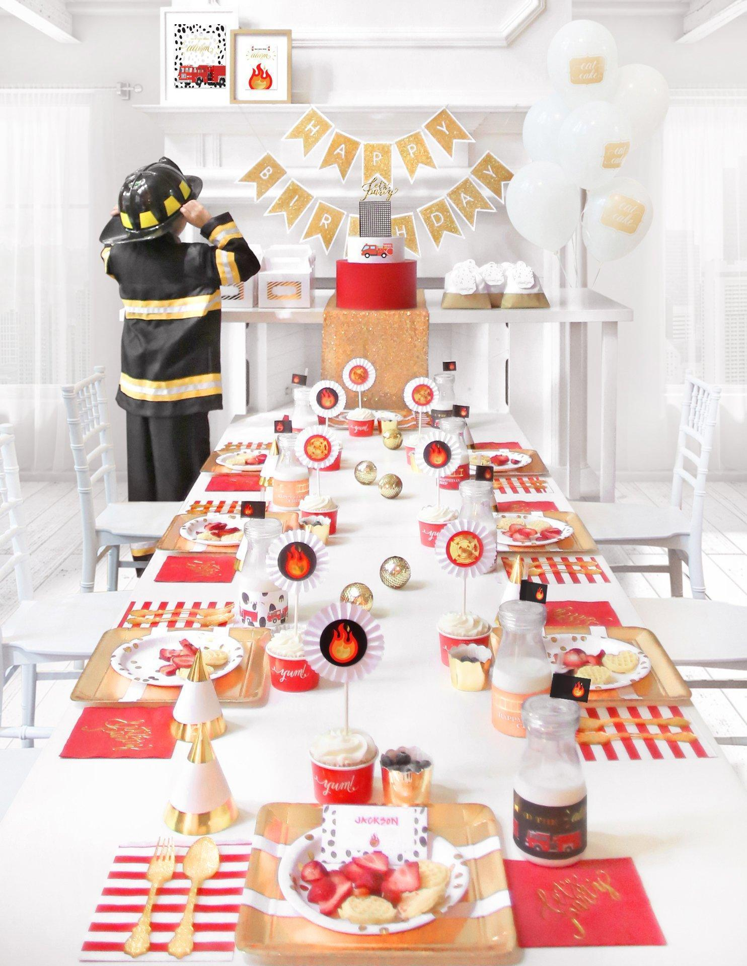 fire truck birthday party in a box