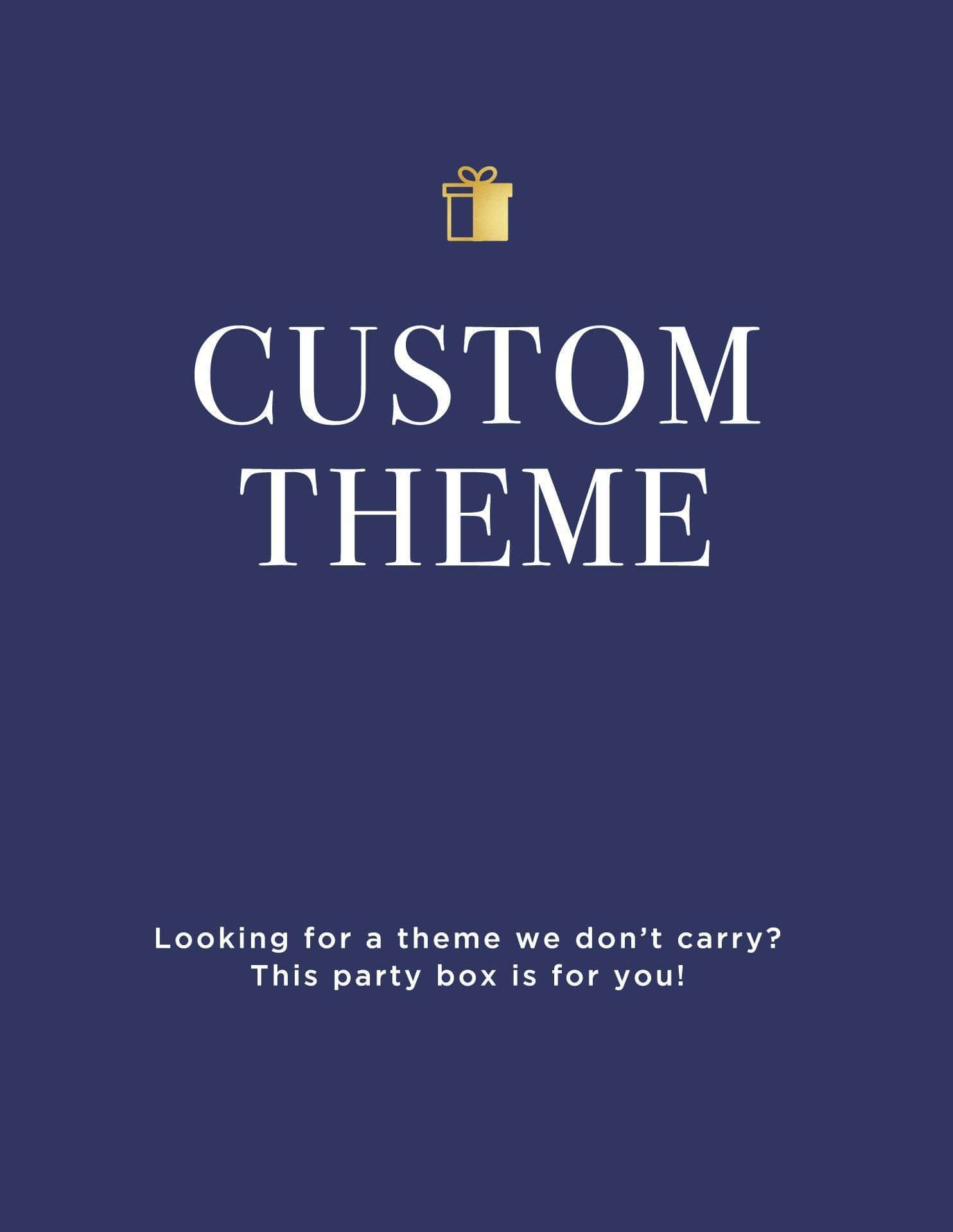 personalized party supplies