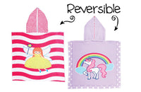 Unicorn Fairy Reversible Hooded Towel