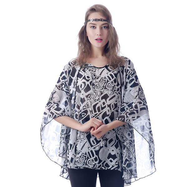 Black and White kimono - Crate 152