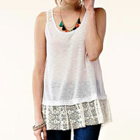 Lace Trim Tank - Crate 152