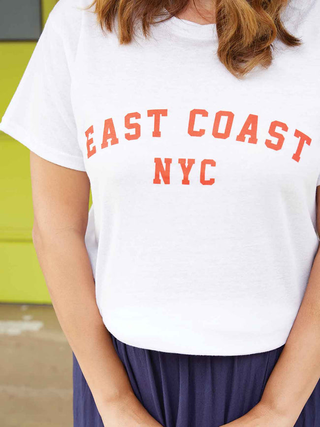 EAST COAST WHITE TEE