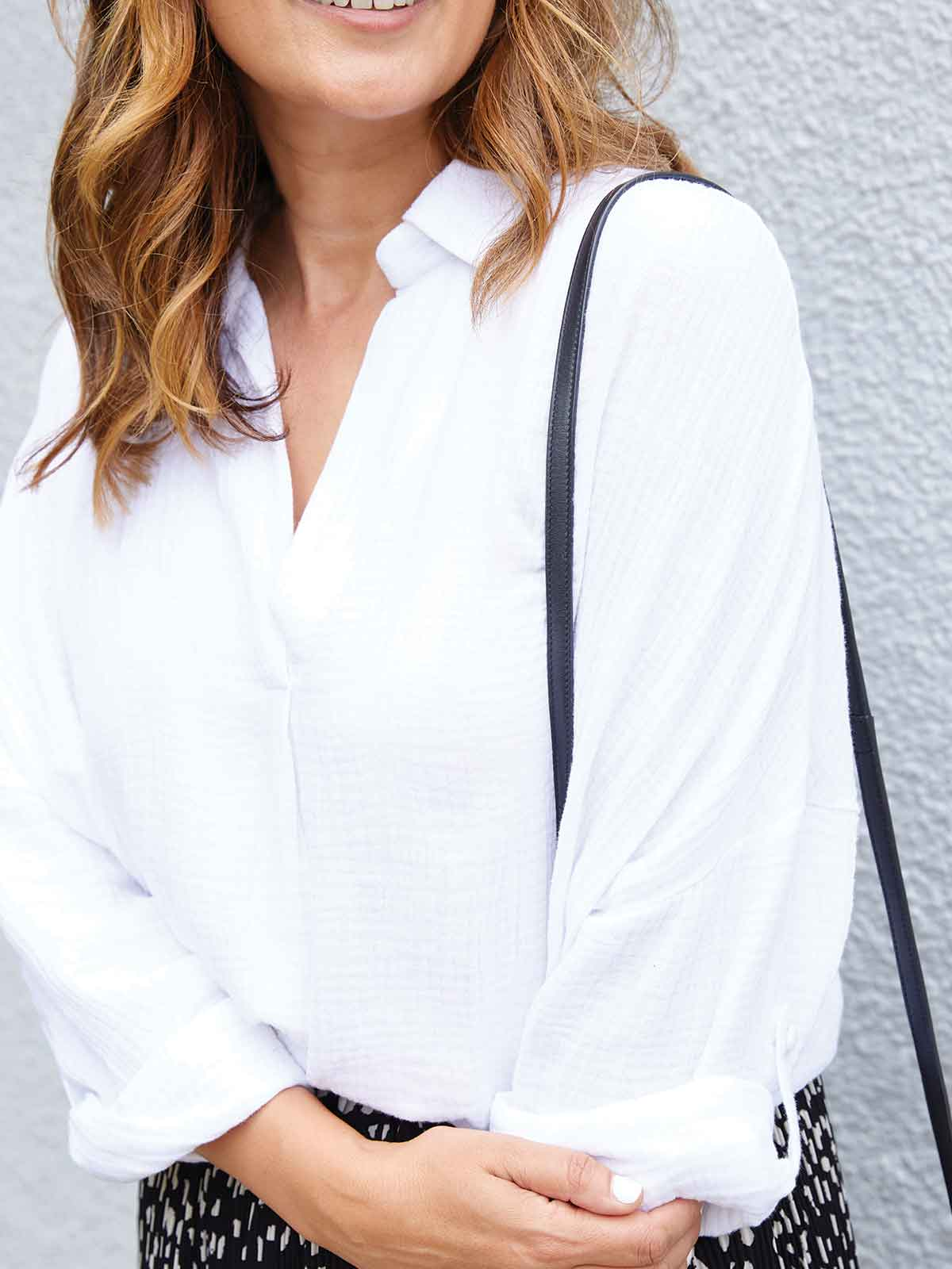 LOVE & LIBERTY TEXTURED WHITE TOP