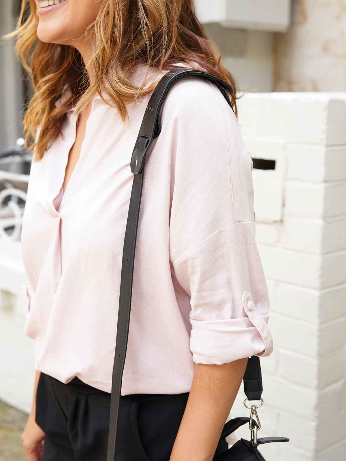 A MILLION WAYS LINEN SHIRT IN DUSTY ROSE