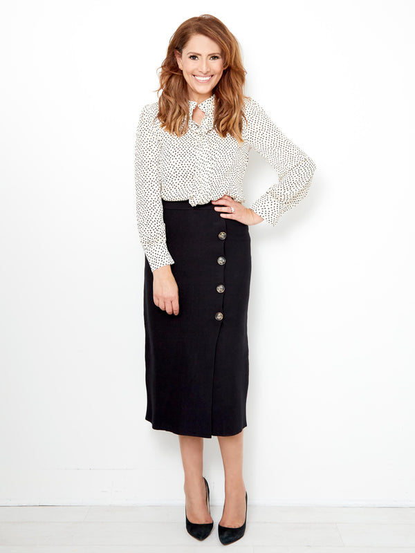 A LONDON MOMENT LUXE KNIT SKIRT