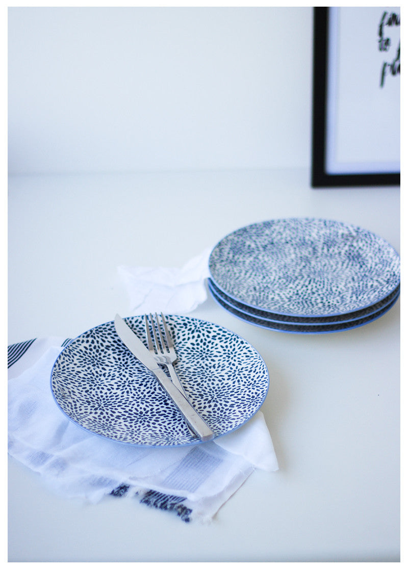 ASPEN INK BLUE PRINT PLATE (SET OF TWO)