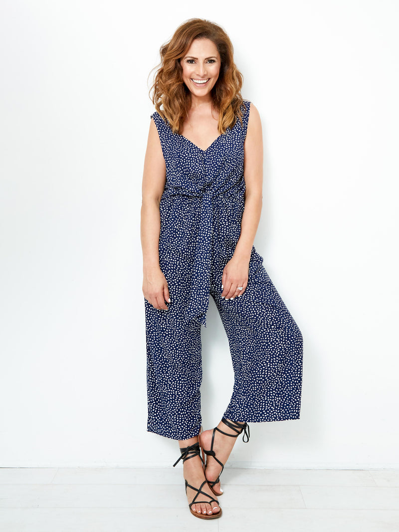 BEYOND THE HORIZON NAVY JUMPSUIT